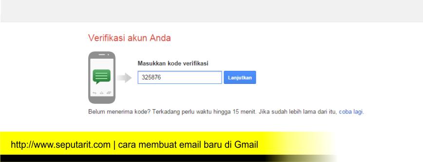 www.seputarit.com | kode cerifikasi yang dikirim ke no hp saat daftar email baru di gmail