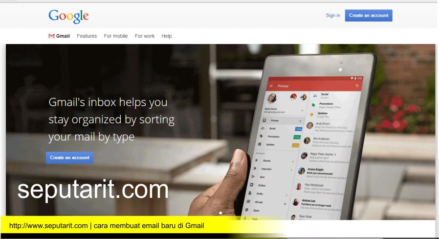 www.seputarit.com | cara membuat email baru di gmail