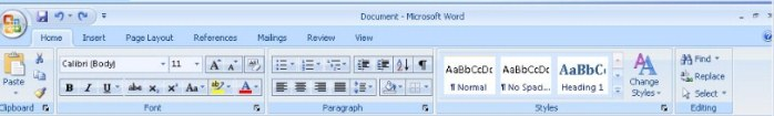 ini Fungsi Menu Dan Ikon Pada Microsoft Word 2007 Beserta Gambarnya