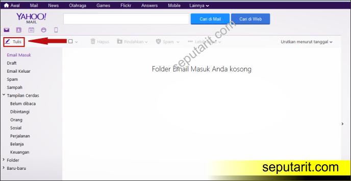 ini merupakan cara mengirim email lewat yahoo terbaru