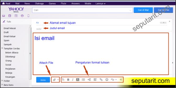 cara kirim email yahoo terbaru