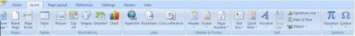 ini juga icon-icon microsoft word 2007 beserta fungsinya dan gambarnya