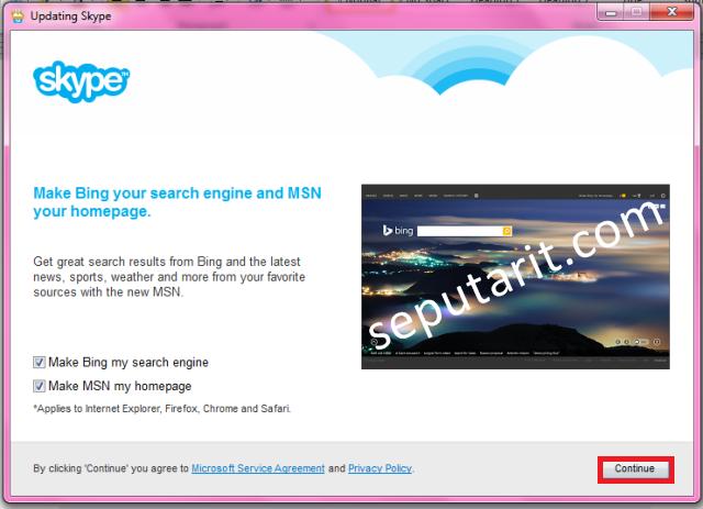 Langkah ketiga menginstal aplikasi skype