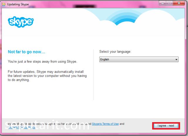 Langkah kedua menginstal aplikasi skype
