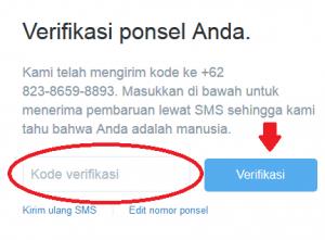 llangkah keempat dalam mendaftar twiter