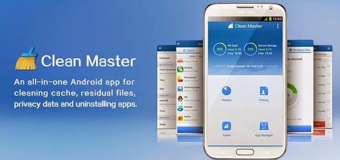 mempercepat kinerja android dengan aplikasi clean master, ram boosters