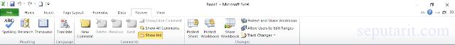 menu dan icon pada microsoft excel