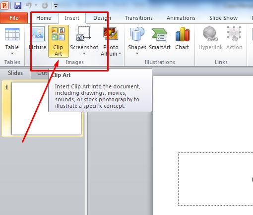 ini adalah Cara Menambahkan Gambar Clip Art Pada Microsoft PowerPoint