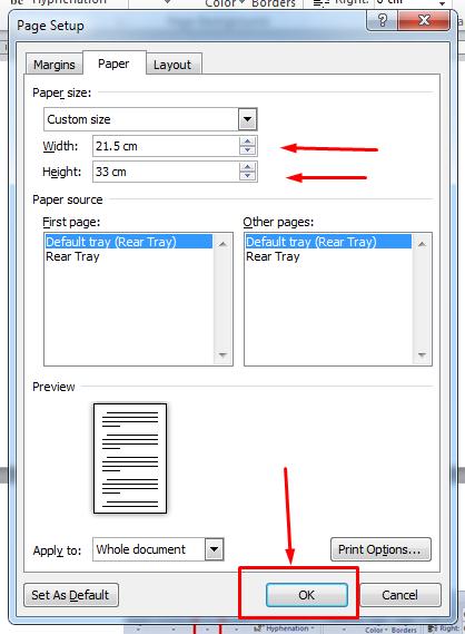 ernyata ini cara mengatur ukuran kertas pada microsoft word