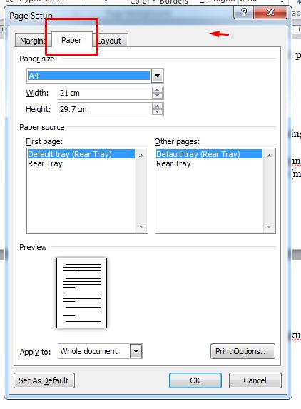 cara mudah mengatur ukuran kertas di microsoft word