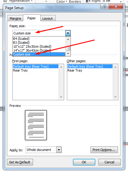 ini juga cara mudah mengatur ukuran kertas pada microsoft word