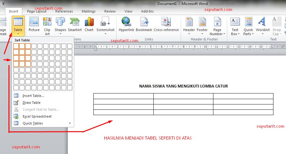 ini juga Cara Membuat Tabel di Microsoft Word