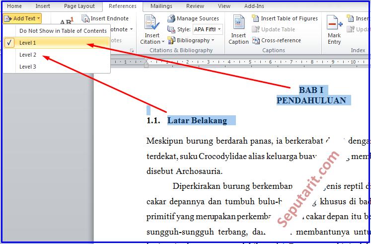 ini juga Cara Membuat Daftar Isi Makalah Otomatis Di Microsoft Word