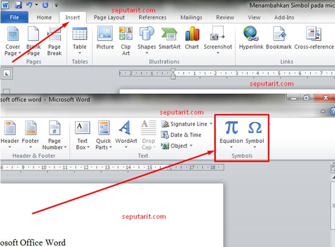 inilah cara menambahkan simbol pada microsoft office word