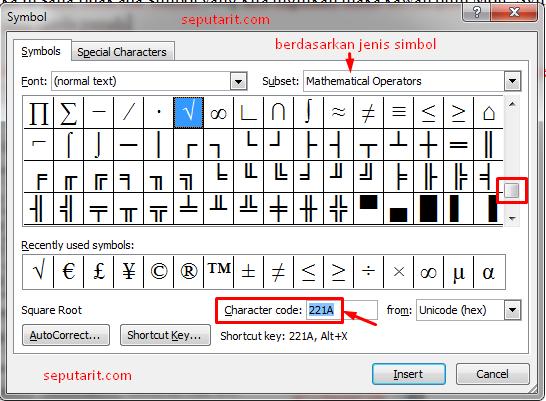 ini dia cara menambahkan simbol pada microsoft word