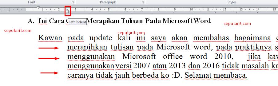 bacalah artikel cara merapihkan paragraf di microsoft word