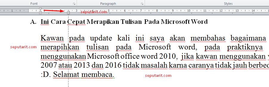 setelah baca cara merapihkan paragraf pada microsoft word
