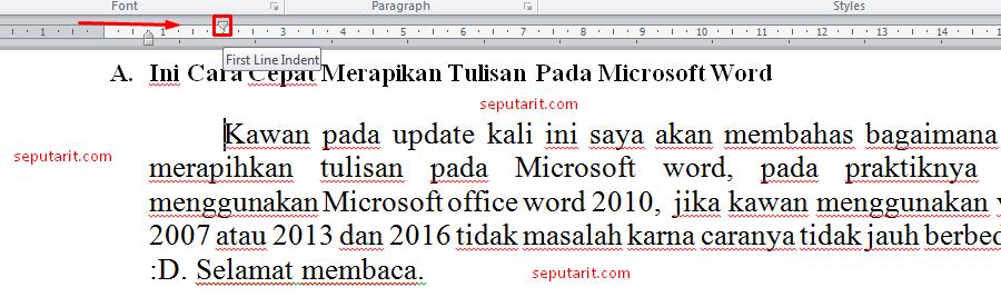 perhatikan cara merapihkan teks pada microsoft word dengan mudah