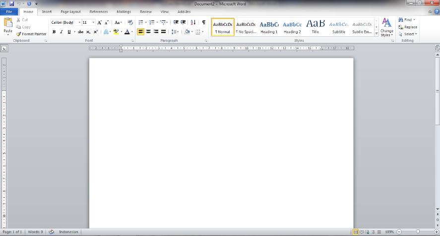 ini dia membuat dokumen baru di microsoft word