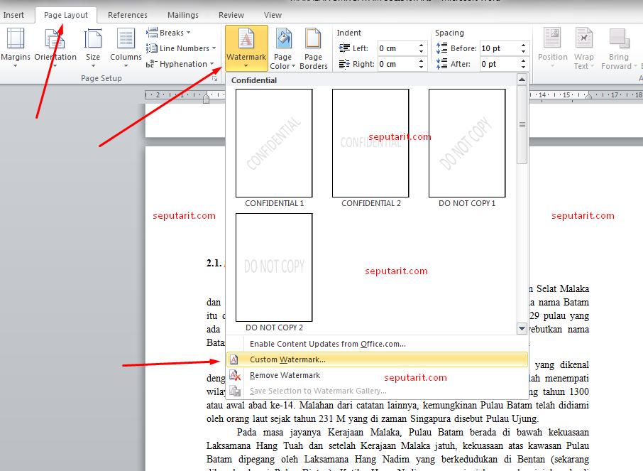 Ini Dia Cara Membuat Logo Transparan Dibelakang Tulisan Pada Microsoft Word