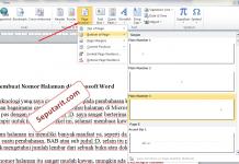 berikut CaraMembuat Nomor Halaman di Microsoft Word