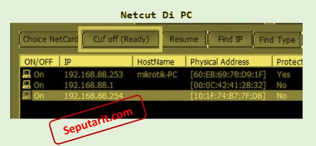 berikut cara Mematikan Koneksi Wifi Orang Lain Dengan Netcut di komputer