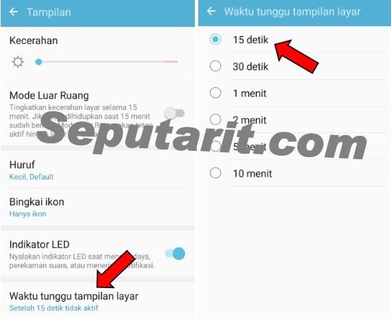 kawan berikut Cara menghemat baterai Android mengatur waktu tunggu tampilan layar Android