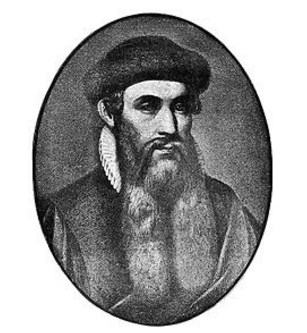 berikut artikel Sejarah Printer dan Jenis Jenis Printer Johannes Guttenberg