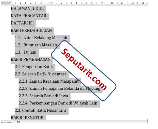 berikut Cara Membuat Daftar Isi Secara Manual di Microsoft Word