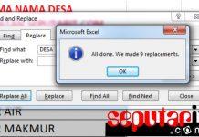 panduan Cara Mengganti Kata di Microsoft Excel dengan Replace