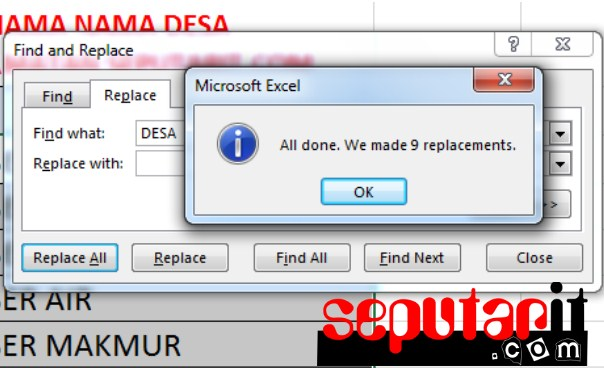 Cara Mengganti Kata di Microsoft Excel dengan Replace
