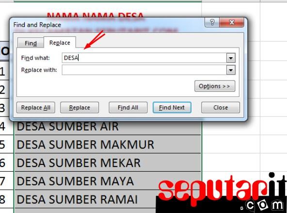 bacalah Cara Menghapus Kata di Microsoft Excel dengan Metode Replace