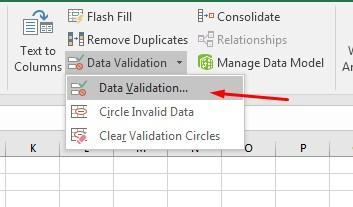 ini merupakan Cara membuat Validasi Data Di Microsoft Excel