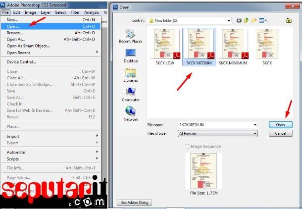 berikut cara mengubah file hasil scan atau Gambar JPG PNG sehingga menjadi lebih kecil atau lebih besar