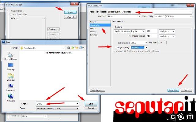 ini juga mengubah file hasil scan menjadi berkas PDF dengan photoshop