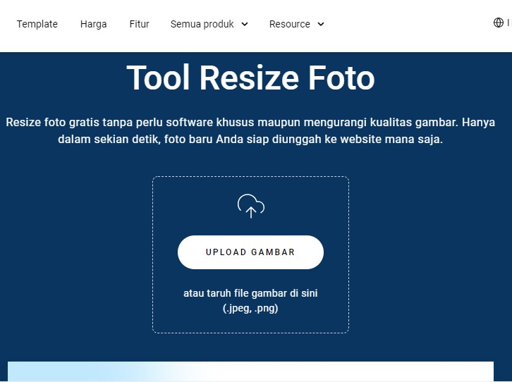 ini tool resize foto zyro