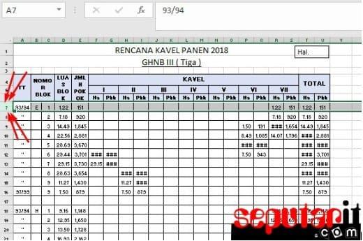 berikut Cara Membuat Judul di Excel Tidak Bergerak Saat di Scrol Digeser
