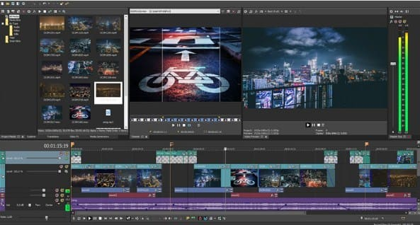 ini juga aplikasi edit video PC ringan sony vegas pro 15