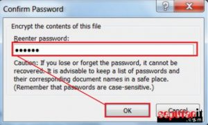 pasang password di file word