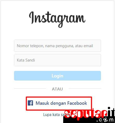 ini dia cara masuk akun instagram lupa sandi,email lewat facebook