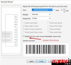 membuat kode batang untuk harga produk di word 2010