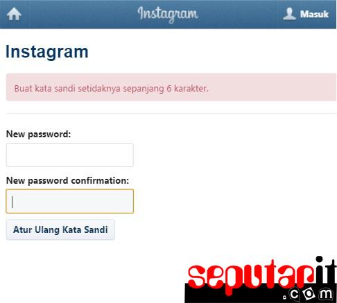 ini cara reset password instagram.