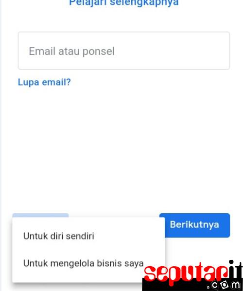 cara tambah akun google
