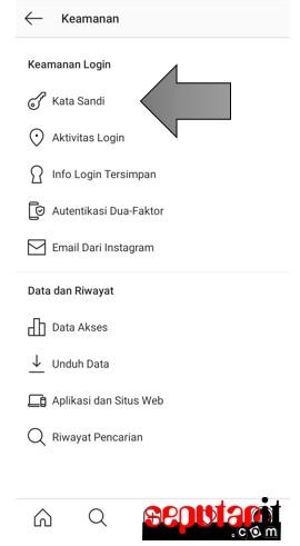 jadi begini cara mengganti password instagram di hp