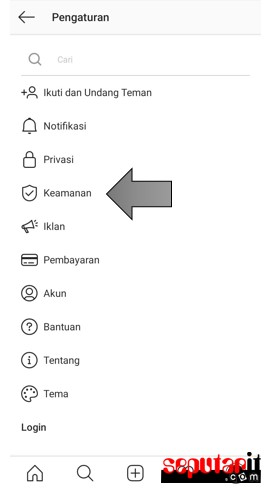 berikut ini cara mengganti password instagram versi terbaru