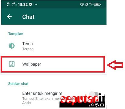 berikut adalah cara ganti background whatsapp