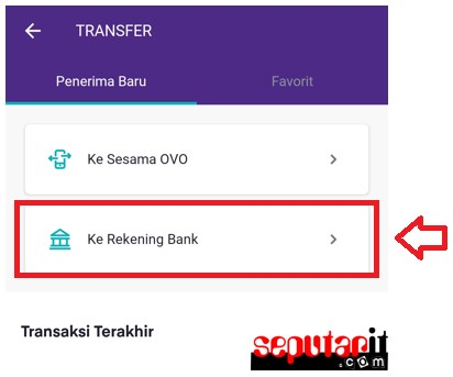 berikut cara transfer ovo ke bank lain