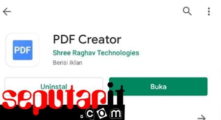 ini aplikasi untuk membuat file pdf di hp.