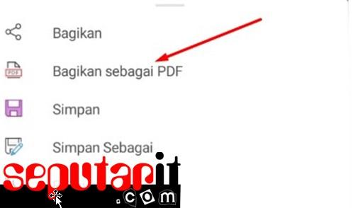 ini cara membuat file pdf di hp