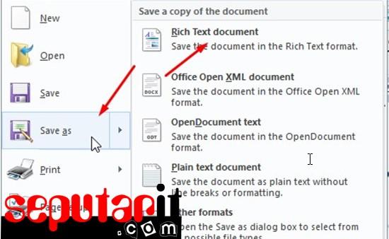cara membuat file pdf menggunakan wordpad